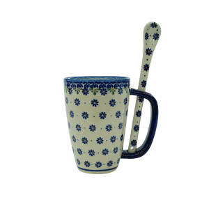 Cappuccino mug with a spoon (A20 D53)