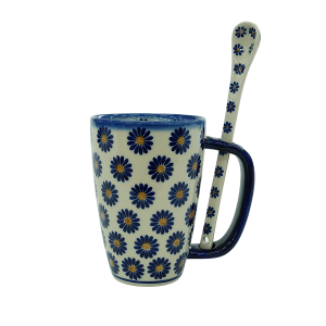 Cappuccino mug with a spoon (A20 D41)
