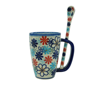 Cappuccino mug with a spoon (A20 D44)