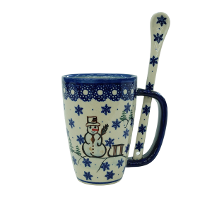 Cappuccino mug with a spoon (A20 D33)