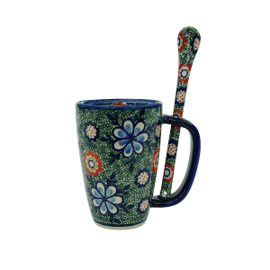 Cappuccino mug with a spoon (A20 D42)