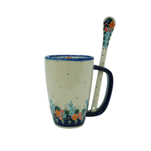 Cappuccino mug with a spoon (A20 D23)