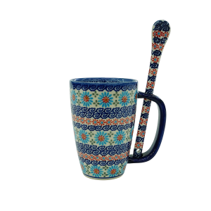 Cappuccino mug with a spoon (A20 D3)