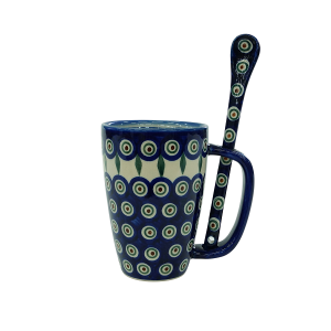 Cappuccino mug with a spoon (A20 D43)