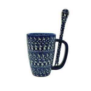 Cappuccino mug with a spoon (A20 D25)