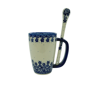 Cappuccino mug with a spoon (A20 D27)
