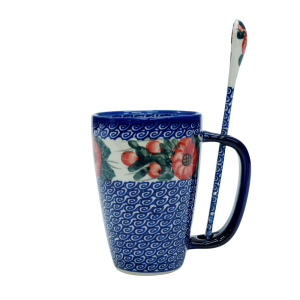 Cappuccino mug with a spoon (A20 D15)