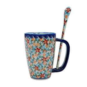 Cappuccino mug with a spoon (A20 D54)