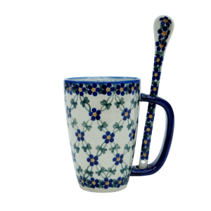Cappuccino mug with a spoon (A20 D6)